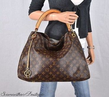 1d591162f36d Louis Vuitton Artsy Mm Monogram Leather Shoulder Bag Satchel Purse Handbag  Hobo