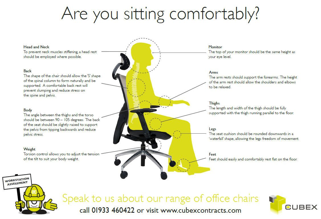 Setting Up Your Office Chair  Health And Safetly