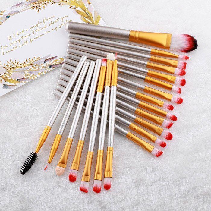 FLD 20 Teile Make-Up Pinsel Set Lidschatten Foundation Pulver Eyeliner Wimpern Lippen-Make Up Pinsel Kosmetische Schönheit Werkzeug Kit – style9