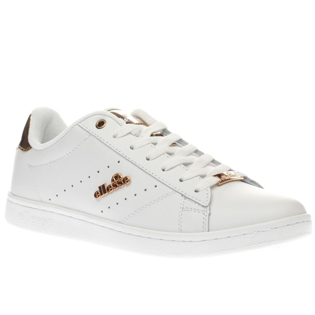 womens ellesse white rose gold anzia trainers