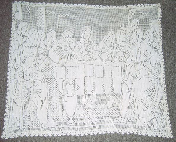 Filet Crochet Pattern - Lord\'s Supper,18 by 36 Inches | Religión a ...