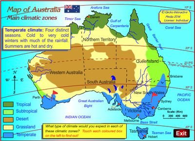 Free Climate Map Of Australia Grade Geography Australian - Australia climate map