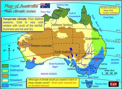 Free Climate map of Australia Grade 3 geography Australian