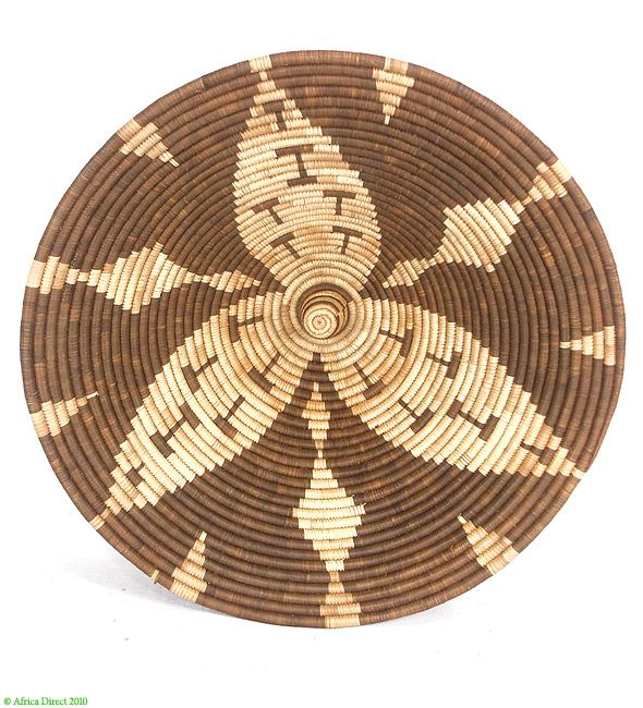 Africa   Basket from Botswana, possibly Bayei or Hambukushu peoples   ca. 1970s   Theses stunning basket are made from palm tree fibers. This palm tree, called Mokola is found along the Okavango area. The technique and process of fabrication are very complex. It can take up to a month to produce a medium sized basket.