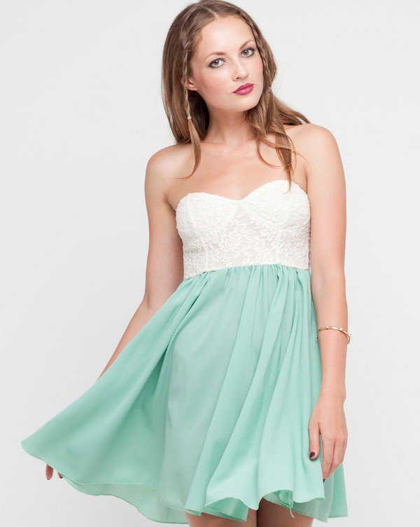532407c47 Vestido corto strapless para la noche   ropa   Vestidos, Vestido ...