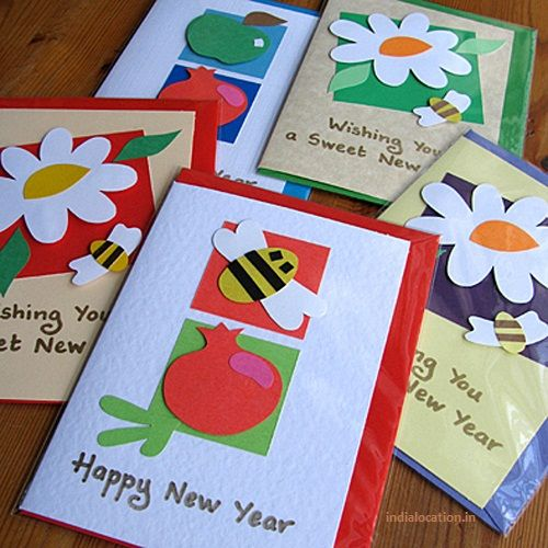 easy hand made new year card designsimple happy new year hand made card designsmake cute new year card at home beautiful new year hand made card designs