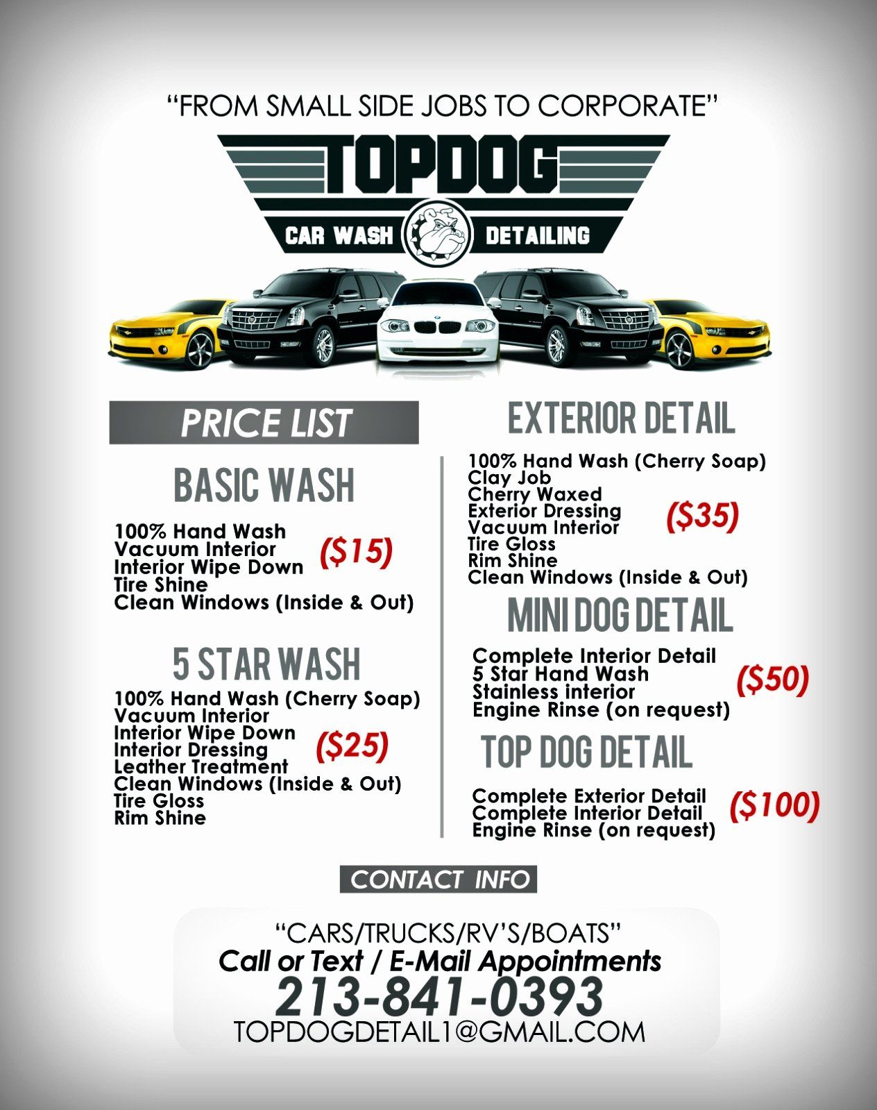 Car Detail Flyer Template Free Luxury Templates Car Detailing Price List Template Flyer Flyer Template Flyer Design Templates
