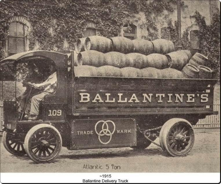 1915 Atlantic 5 Ton Delivery Truck Trucks, Beer truck