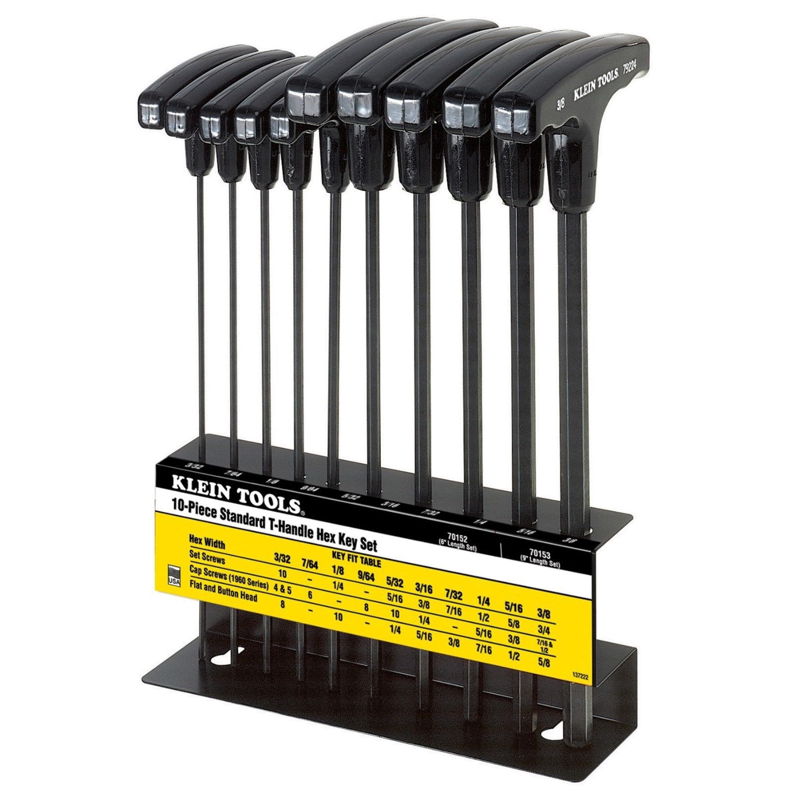 Hex Keys And Wrenches 42258 Klein Tools 70153 10 Piece Inch T Handle Hex Key Set And Stand Sizes 3 32 To 3 8 Buy It Now Only 35 O Hex Key Klein Tools Hex