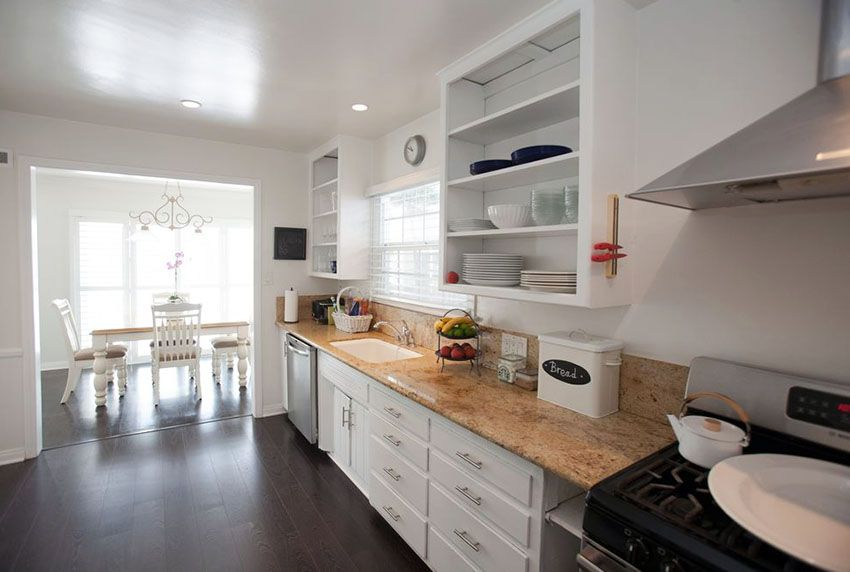 How To Organize A Small Kitchen Enchanting One Wall Kitchen Designs Photos Design Ideas