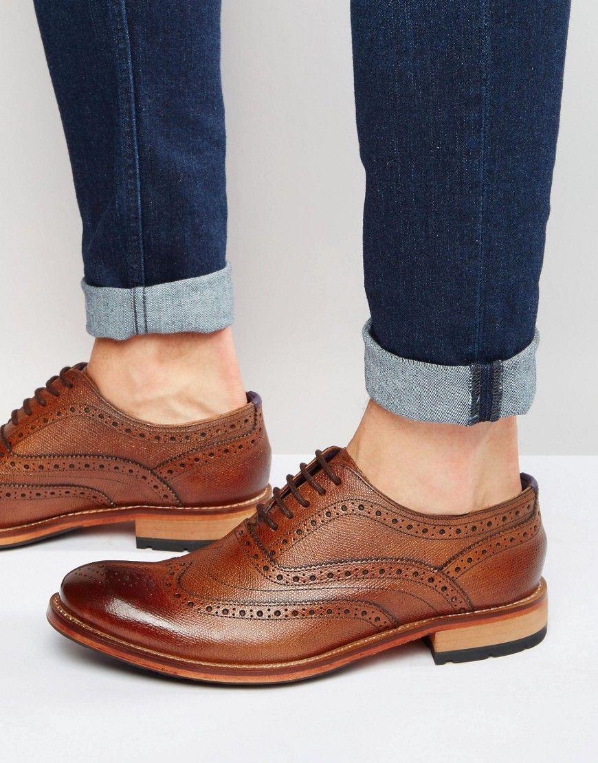 84e143a95593 TED BAKER GURI BROGUE SHOES - BROWN.  tedbaker  shoes