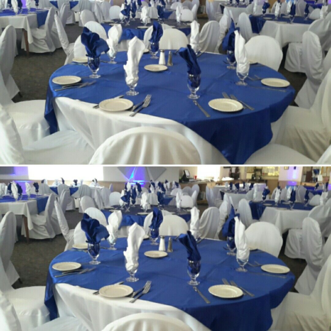 Retirement party just simple blue and white