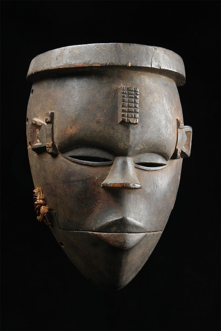"Africa | Mask with hinged jaw ""elu"" from the Ogoni people of Nigeria 