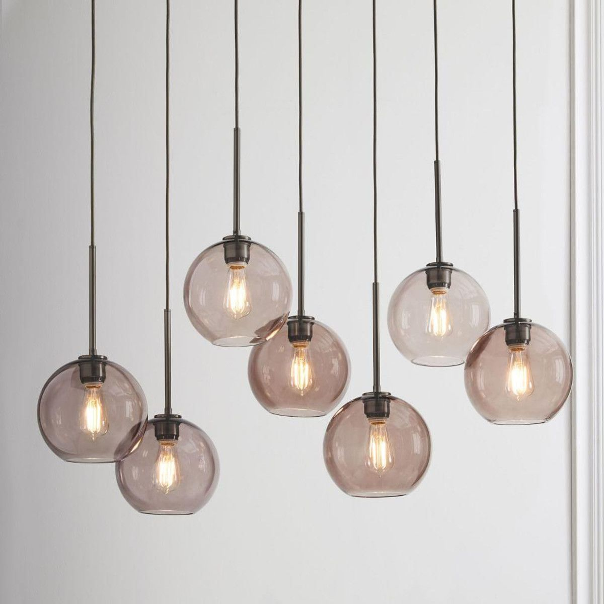 Sculptural glass globe 7 light chandelier small house sculptural glass globe 7 light chandelier small aloadofball Gallery