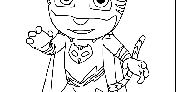Pj Mask Vehicle Coloring Page