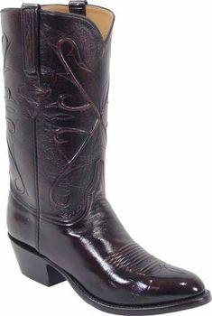 d8bee09cfc6 Mens Lucchese Classics Black Cherry Kangaroo Custom Hand-Made Cowboy ...