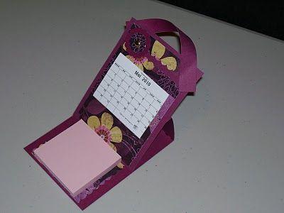 style le plus récent nouvelle apparence brillance des couleurs Tuto : Calendrier de bureau, porte post-it   Calendarios ...