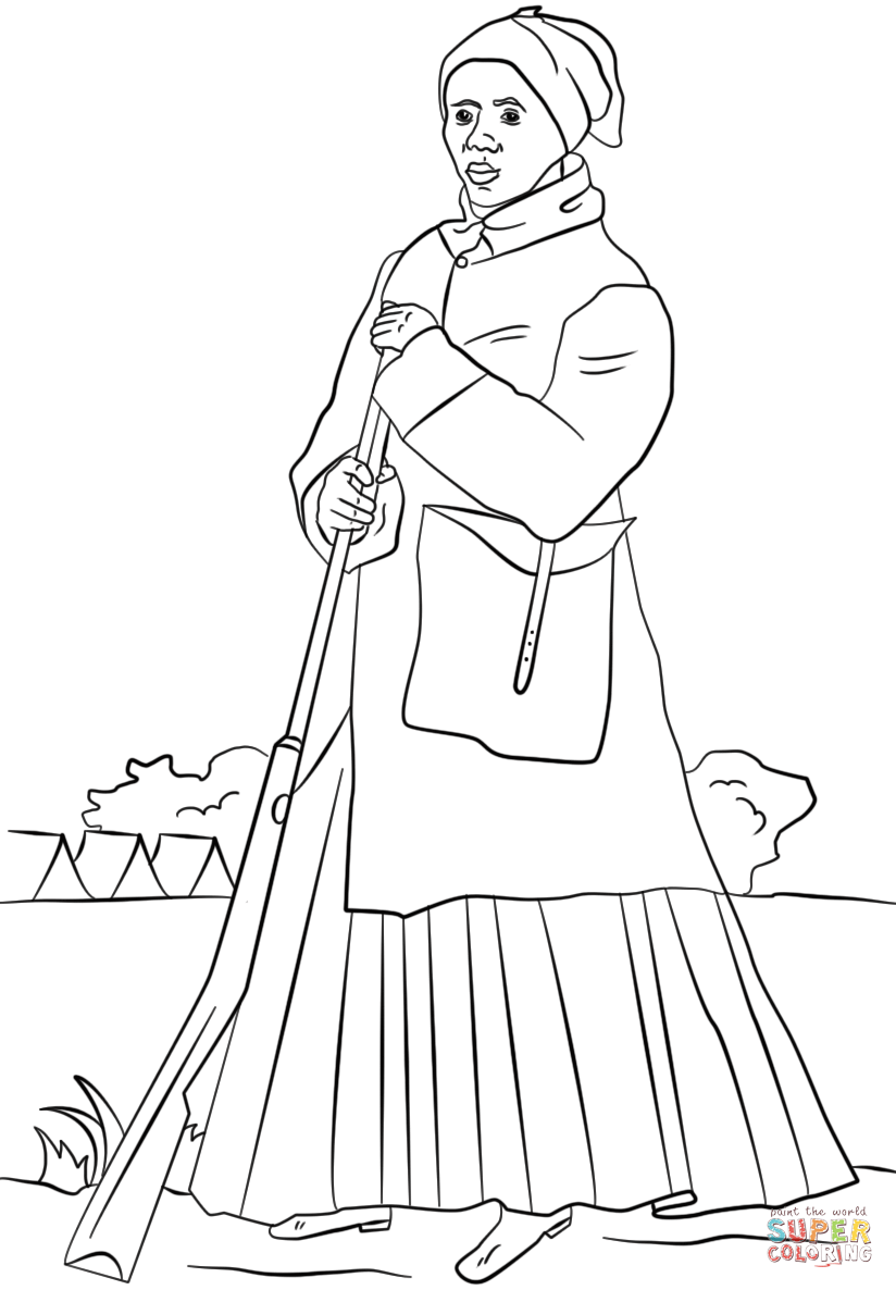 Harriet Tubman Coloring Page Free Printable Coloring Pages Harriet Tubman Pictures Black History Month Kids Black History Month Projects
