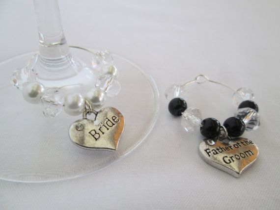 Wine Charms, Champagne Flutes Wedding, Wedding Table Decoration ...