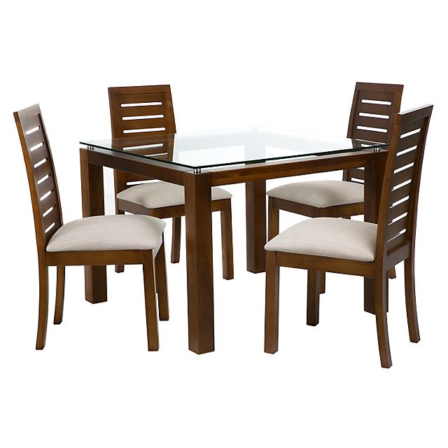 Basement juego de comedor 4 sillas capri miel falabella for Decoracion hogar falabella