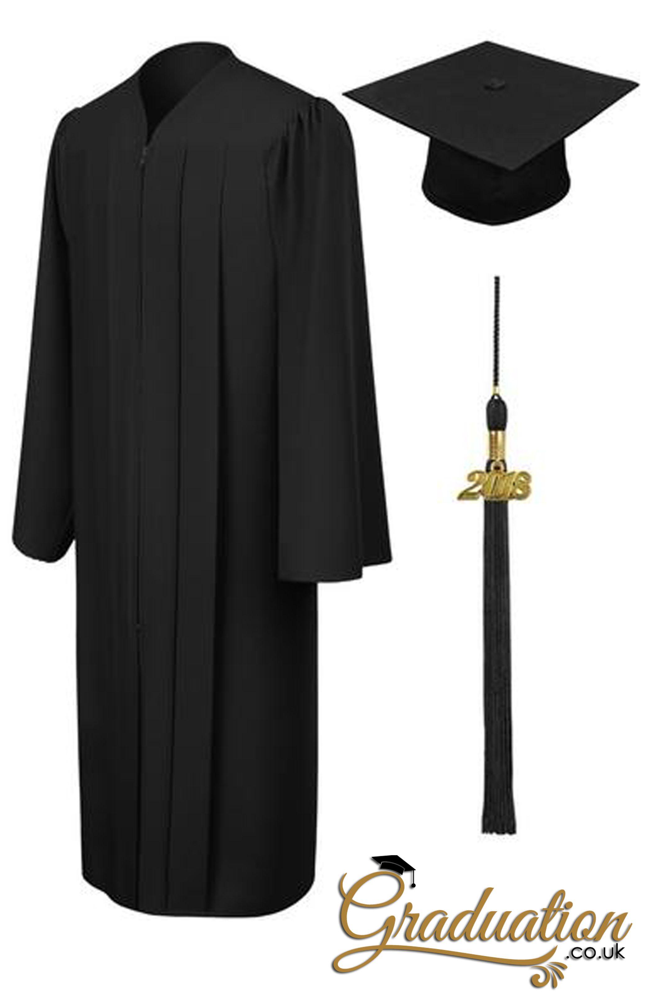 black high school cap