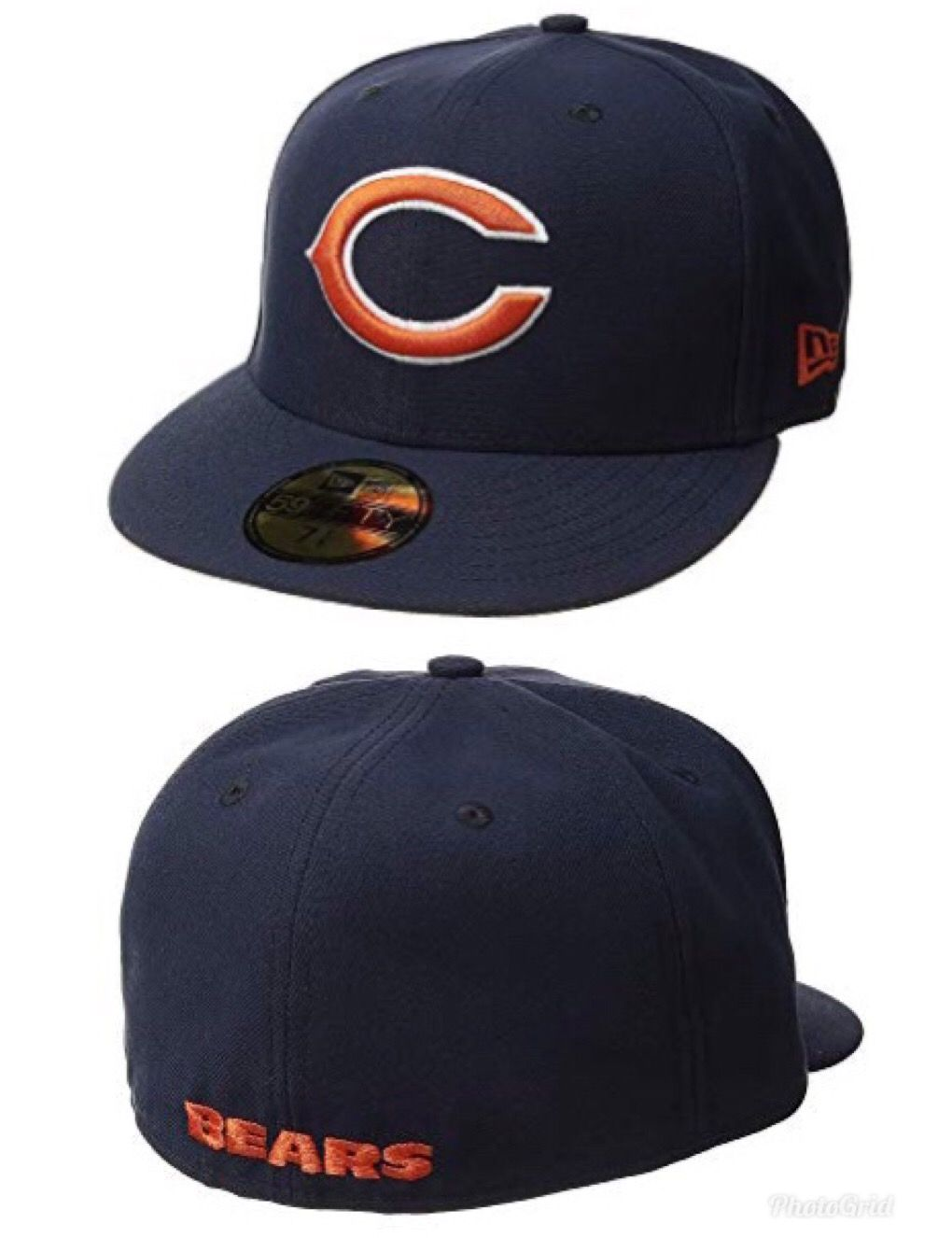 New Era® sends one down the field with the 59FIFTY® Chicago Bears ... 4af8fef01e3e
