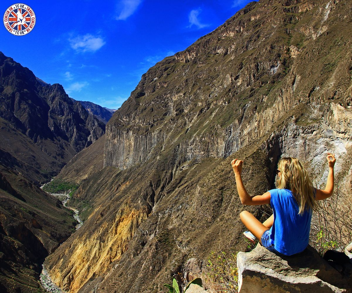 Canyon Colca, Peru: #ColcaCanyon #RuggedMountain #CanyonTrekking #Arequipa #Peru #SouthAmerica #TravelCenter #AirfaresMarketLeader