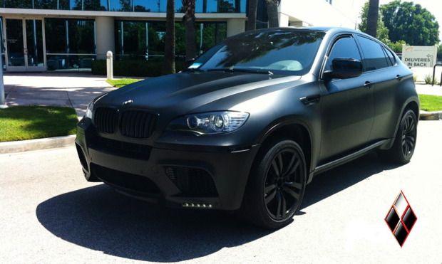 Bmw X6 M Wrapped In Matte Black By Dbx Bmw X6 Bmw Bmw Cars