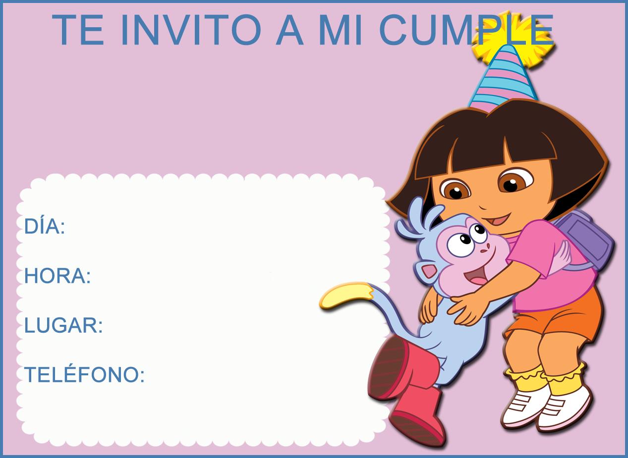Invitaciones De Cumpleaños De Dora La Exploradora Para Descargar ...