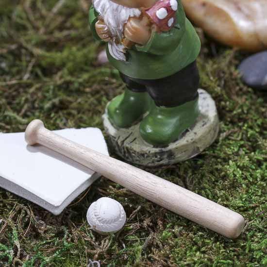 Miniature Baseball Bat and Ball