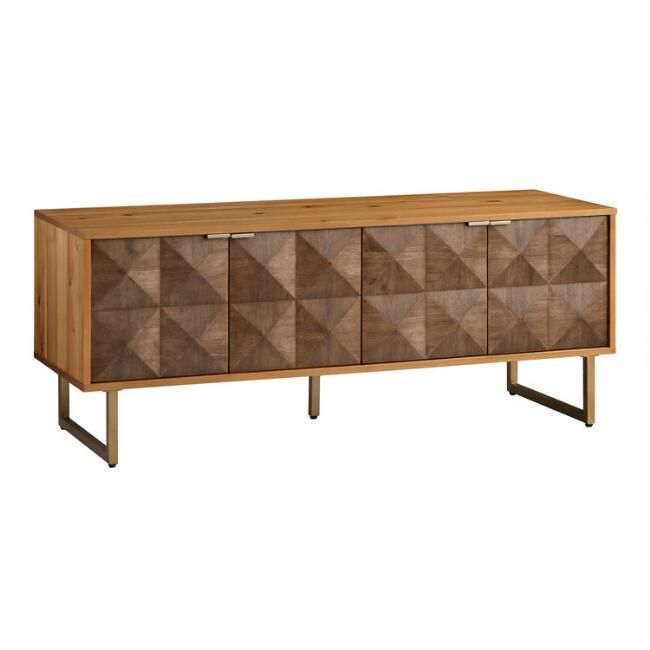 Two Tone Wood Diamond Rouvin Media Cabinet 60 X 20 D X 24 H Media Cabinet Media Furniture Tv Stand Luxury