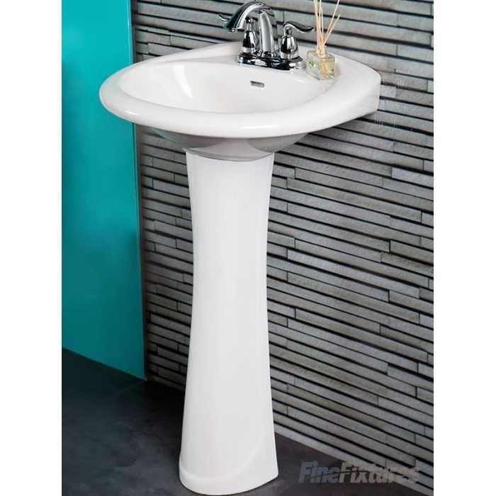 Fine Fixtures Pr2419w 24 X 19 Prestige Style Pedestal Lavatory