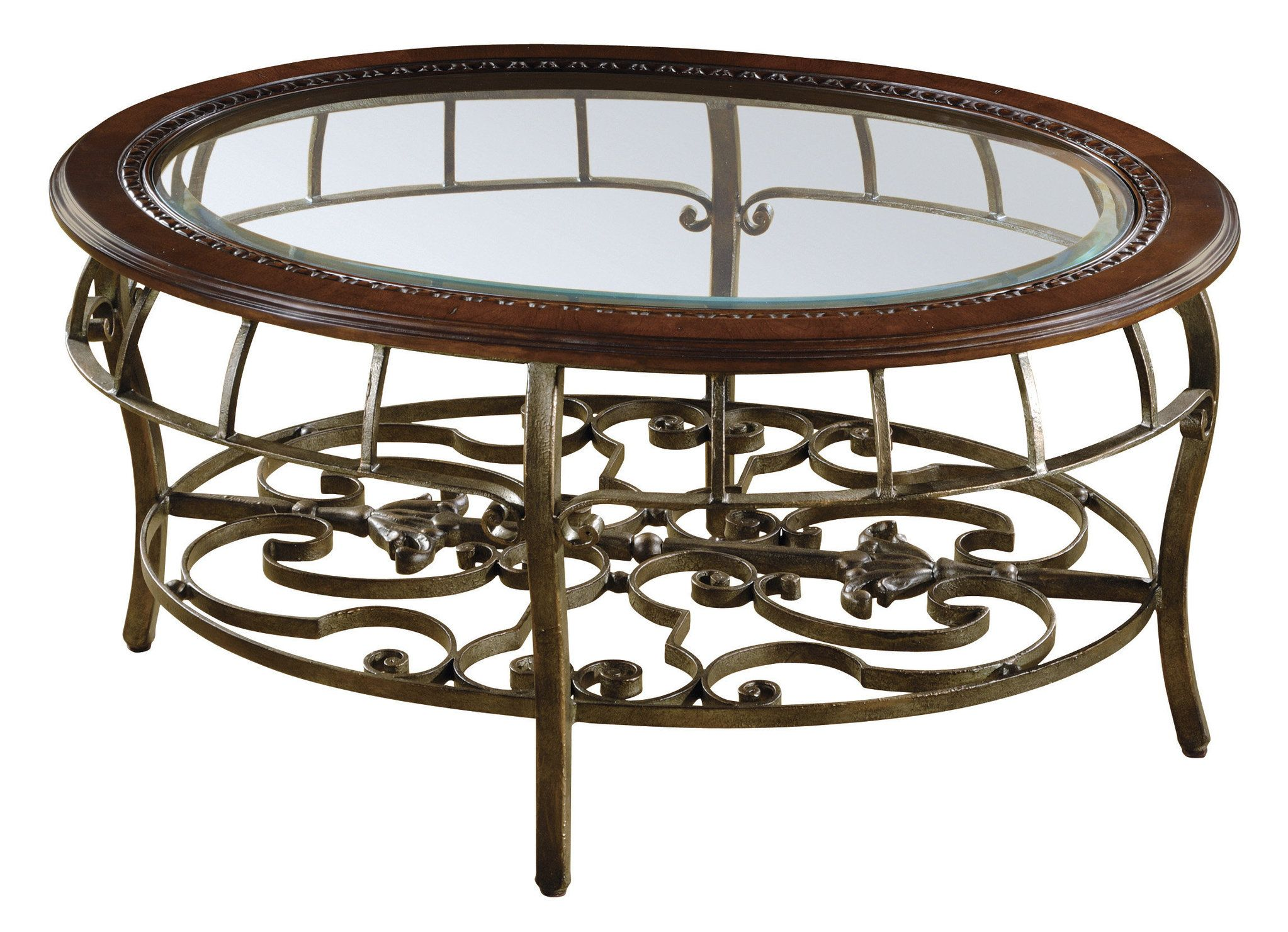 Round Beveled Glass Table Traditional Coffee Table With Metal Base 6919 Tables And Chair In 2019 Table Furniture Glass Table [ 1481 x 2046 Pixel ]