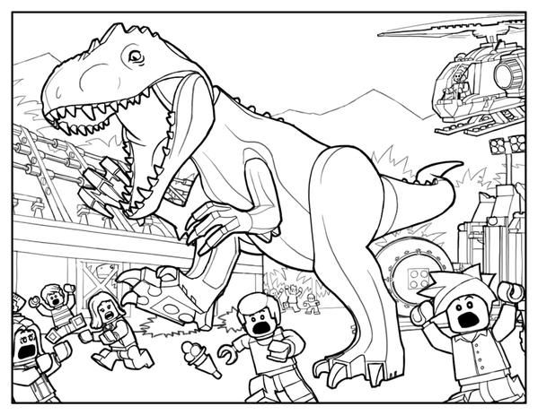 Coloring Pages Of Jurassic World Dinosaur Coloring Pages Lego