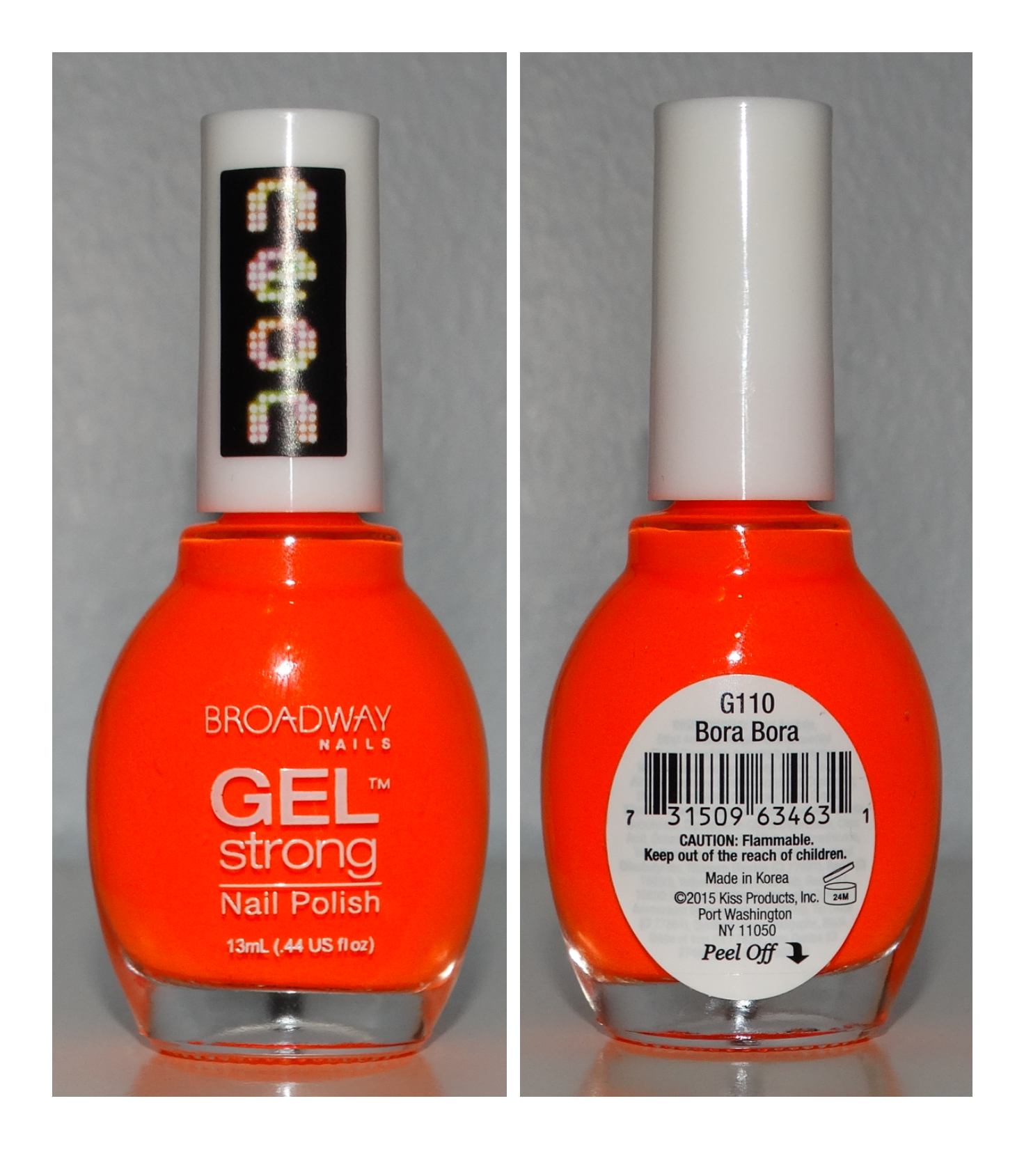Broadway Nails Gel Strong Bora Bora - Neon Orange | Polish ...