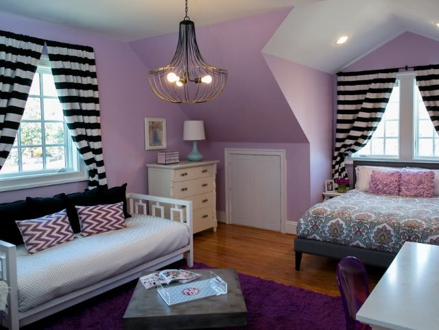 light purple and black bedroom Love the light purple, black, and white! | Master Bedroom | Bedroom, Room, Purple bedrooms