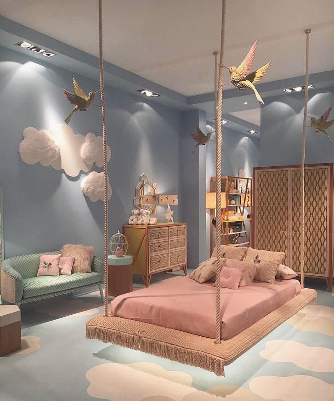 Lit Suspendu Pour Petite Fille Princesse Chambre Kids