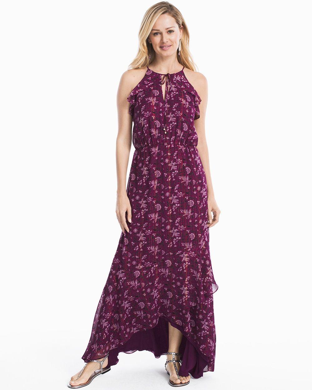 989c7fd0316e Women s Printed Hi-Lo Maxi Dress by WHBM