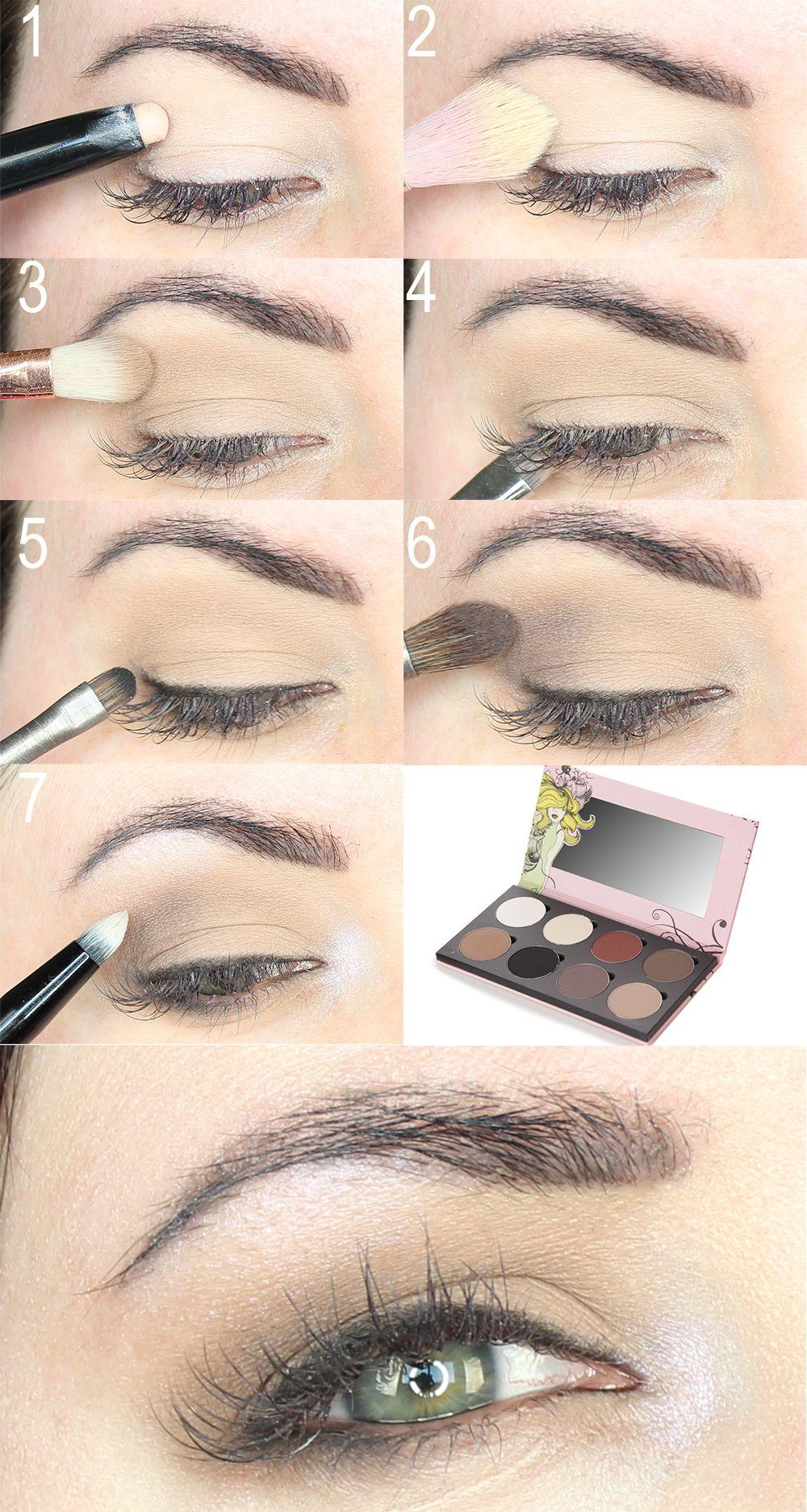 Soft Everyday Neutral Eyeshadow Tutorial Makeup Ideas Hooded Eyes