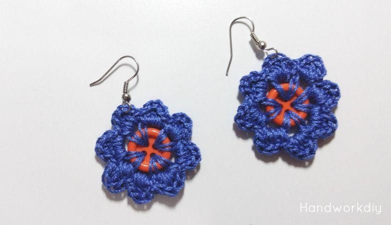 Pendientes de crochet con botones Image | Crochet Gems | Pinterest ...
