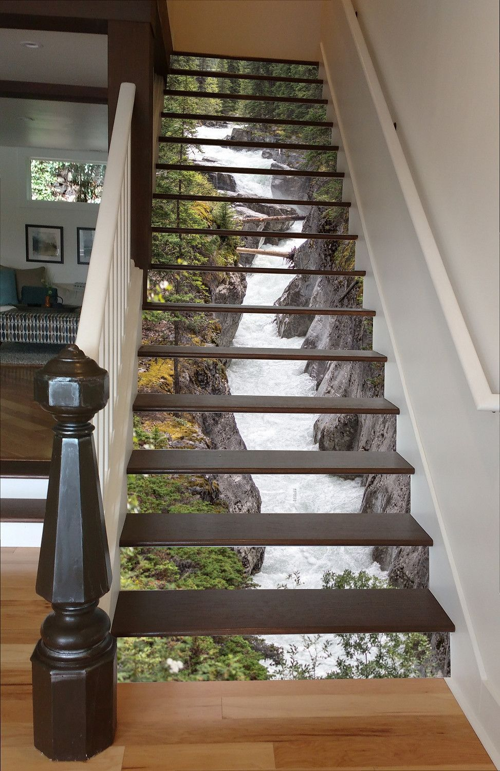 Maligne river 15 stairs treppe flure und wohnideen for Wallpaper home depot usa