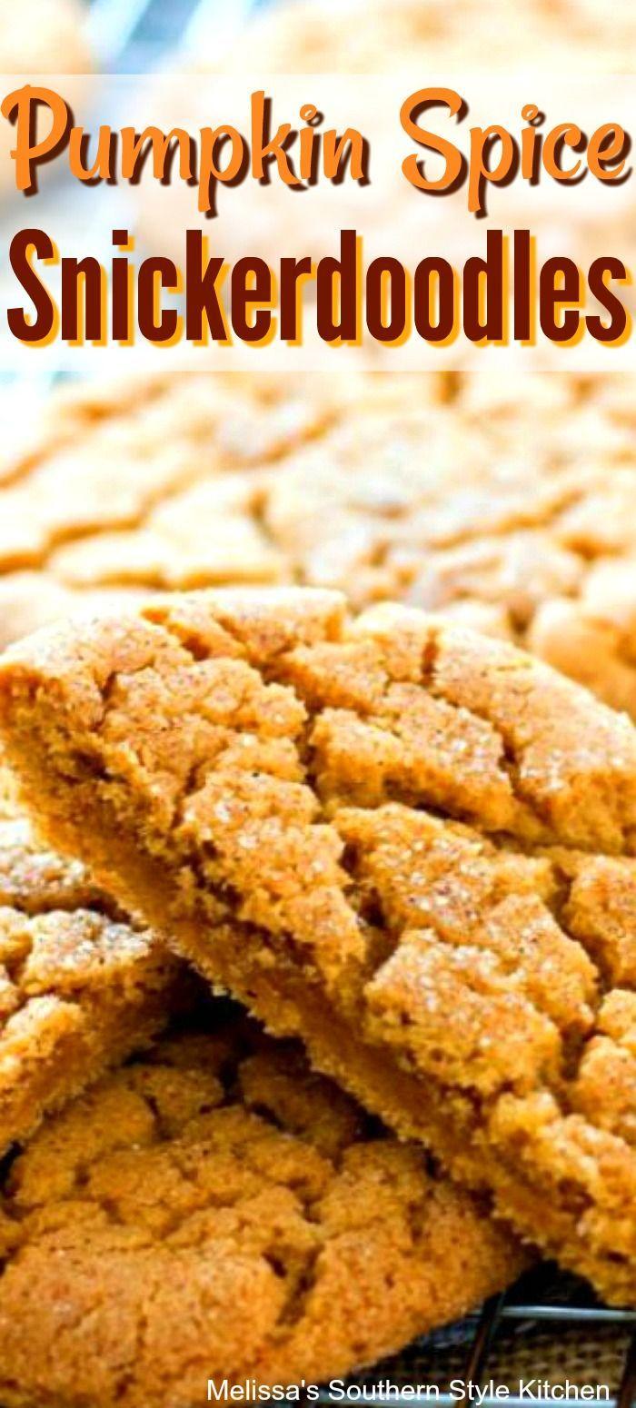 Pumpkin Spice Snickerdoodles - melissassouthernstylekitchen.com