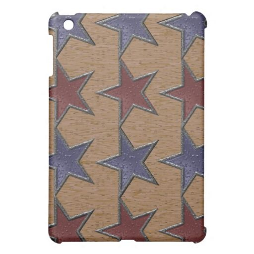 Blue and Red Rustic Stars iPad Mini Cases