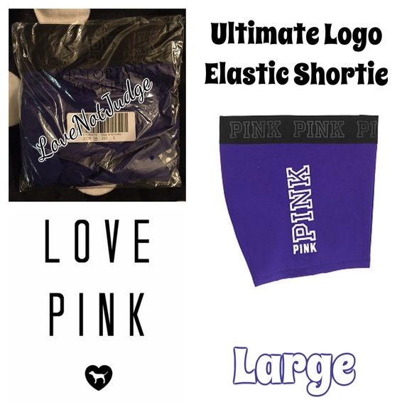NWT VS PINK ULTIMATE LOGO ELASTIC BAND SHORTIE NWT VS PINK LOGO Banded ultimate SHORT- large - brand new in the package , already sold out in this color at VS! Other Colors available! Discounts on all bundles 15% this week only! No trades! Thanks @LoveNotJudgeFashion XoXo PINK Victoria's Secret Shorts