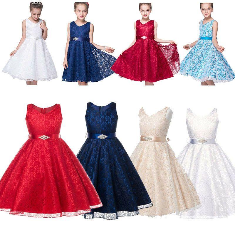 Kinder Madchen Kommunions Hochzeit Kleid Festlich Kleid Festkleider Sommerkleid Festliche Kleid In 2020 Kleider Hochzeit Festliche Kleider Festliche Kleider Madchen