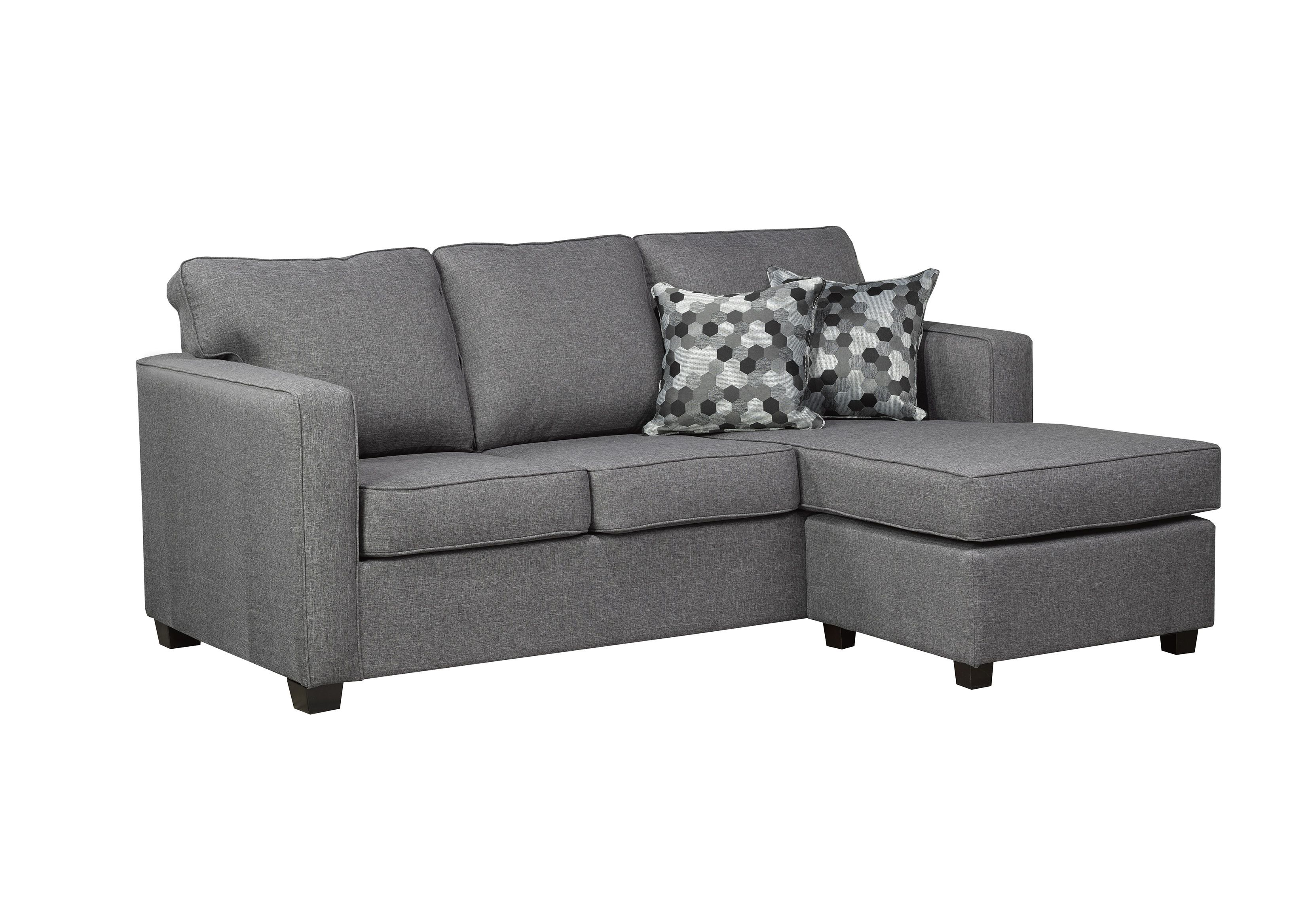 contemporary grey sofa with chaise this sleek style offers extra rh pinterest com au