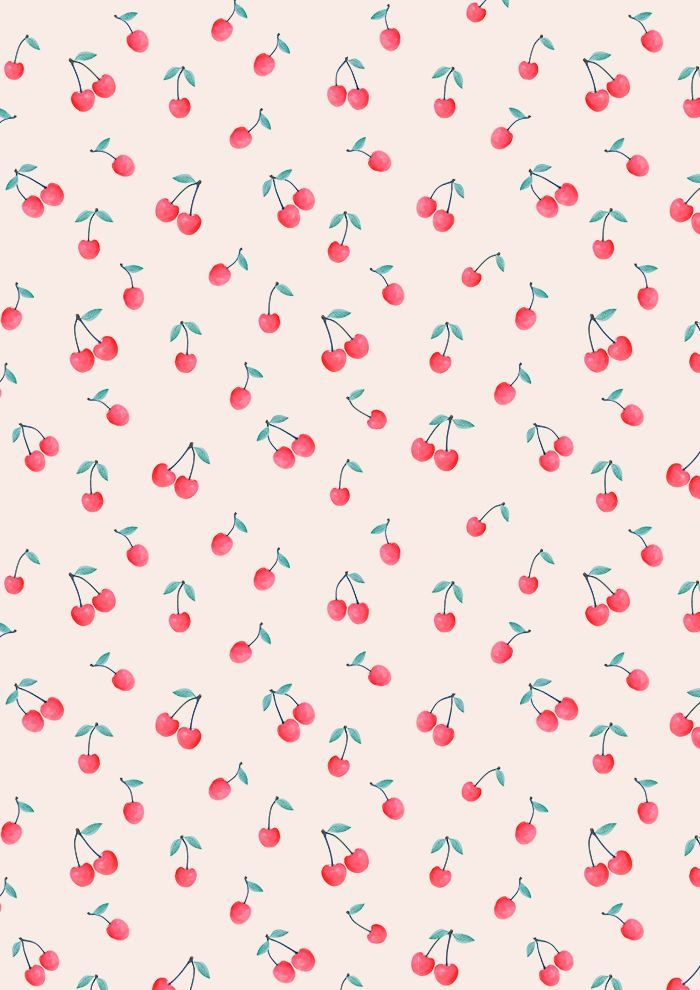 Cherry Print By Kind Of Style Pattern Wallpaper Iphone Background Wallpaper Print Wallpaper