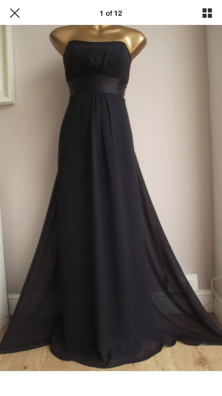 Cool great monsoon silk black green lined occasion eve cruise