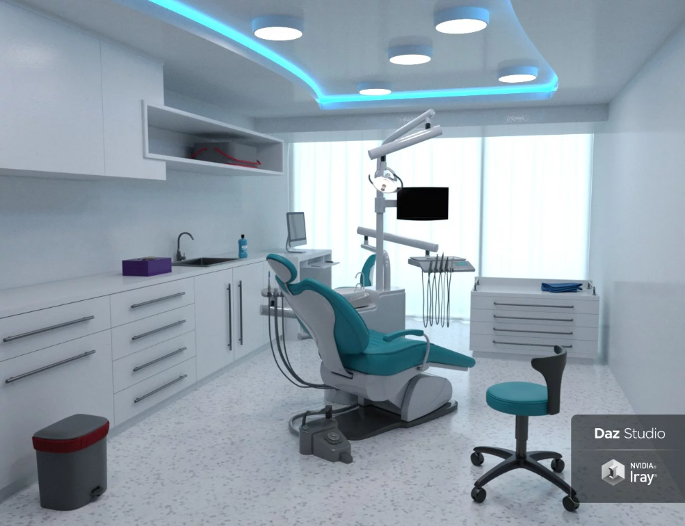 Modern Dental Clinic Daz 3d Models 3d Cg In 2020 With Images