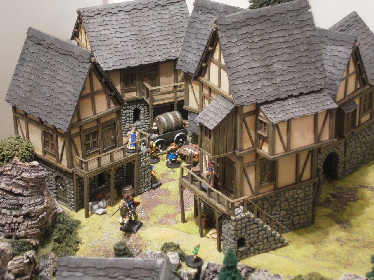 Dungeons 3d castle arts medieval village combination 1 for 3d fachwerk